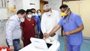 Chhattisgarh marks another milestone as Health Minister TS Singh Deo launches the new ELCA Machine.